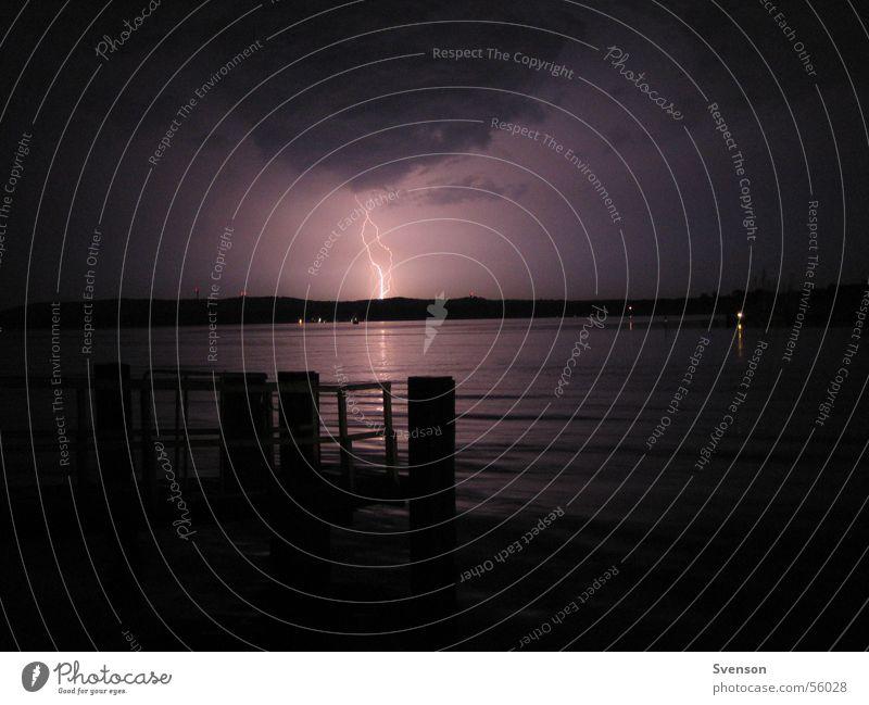 Heat thunderstorm1 Lightning Night Dark Lake Thunder and lightning