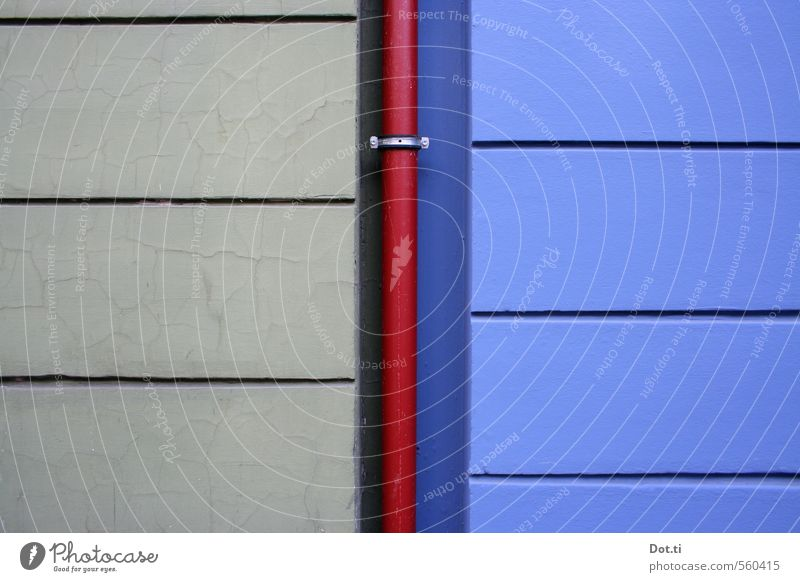 Red House (Residential Structure) Wall (building) Wall (barrier) Building Gray Line Facade Uniqueness Violet Crack & Rip & Tear Divide Geometry Difference