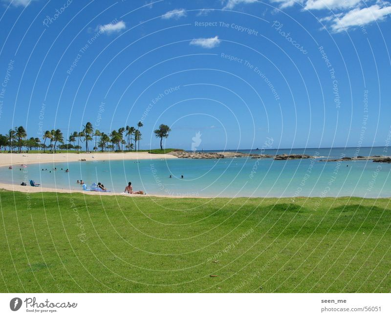 Summer Beach Sand Bay Paradise Hawaii Lagoon Sandy beach Oahu