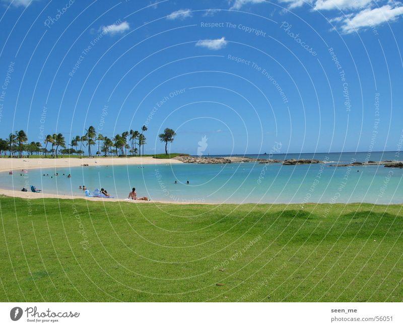Summer Beach Sand Bay Paradise Hawaii Lagoon Sandy beach Oahu