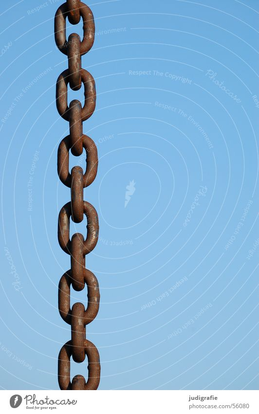 Sky Blue Feasts & Celebrations Metal Harbour To hold on Strong Connection Rust Chain Attachment Hold Connectedness Chain link