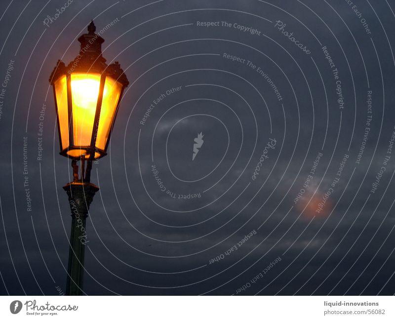 lantern Lantern Light Prague Clouds Charles Bridge