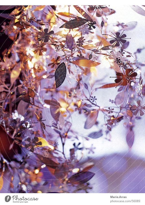 Flower Lamp Blossom Gray Glittering Silver