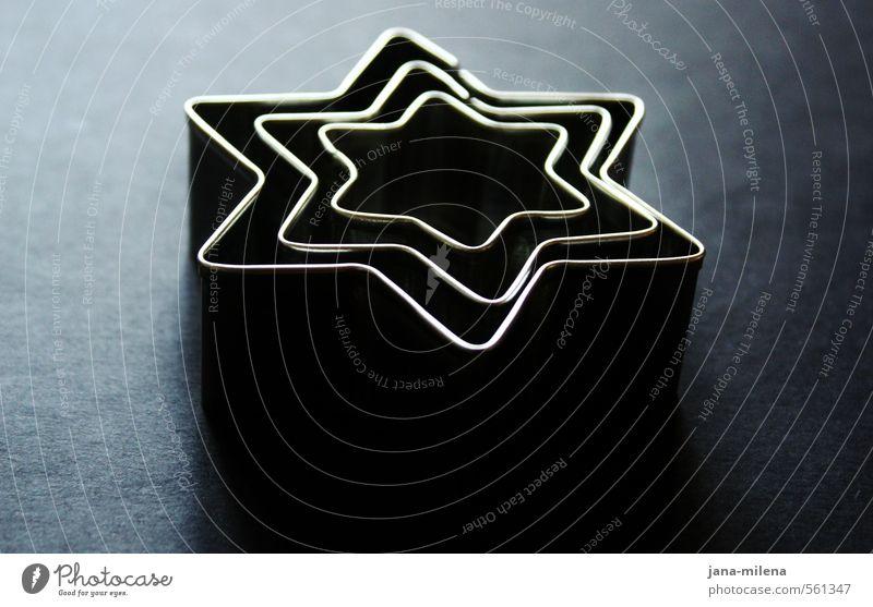 Blue Christmas & Advent Black Dark Gray Art Metal Glittering Esthetic Star (Symbol) Card Silver Cookie Vice Christmas star Christmas biscuit