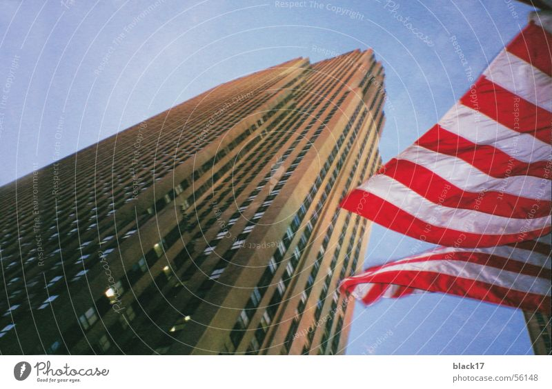 new york Rockefeller Center High-rise American Flag Americas Architecture ge-building