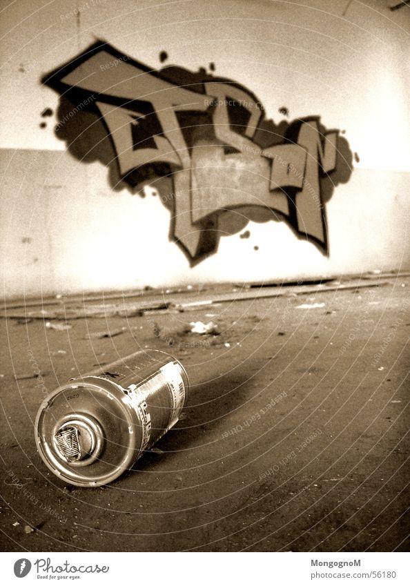 Wall (building) Graffiti Tin Spray can