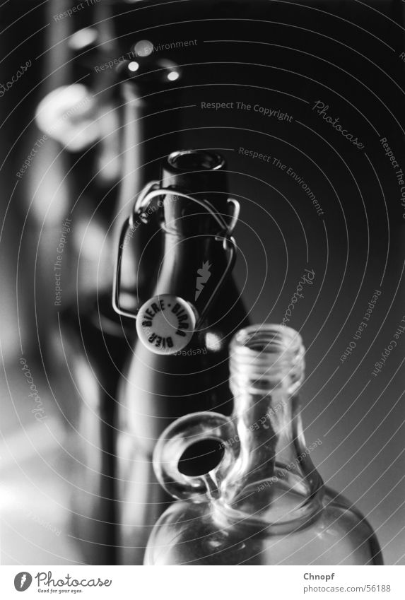 bottles False Beer Exclusive Cold Simple Interior shot Things Beverage Black & white photo Glass
