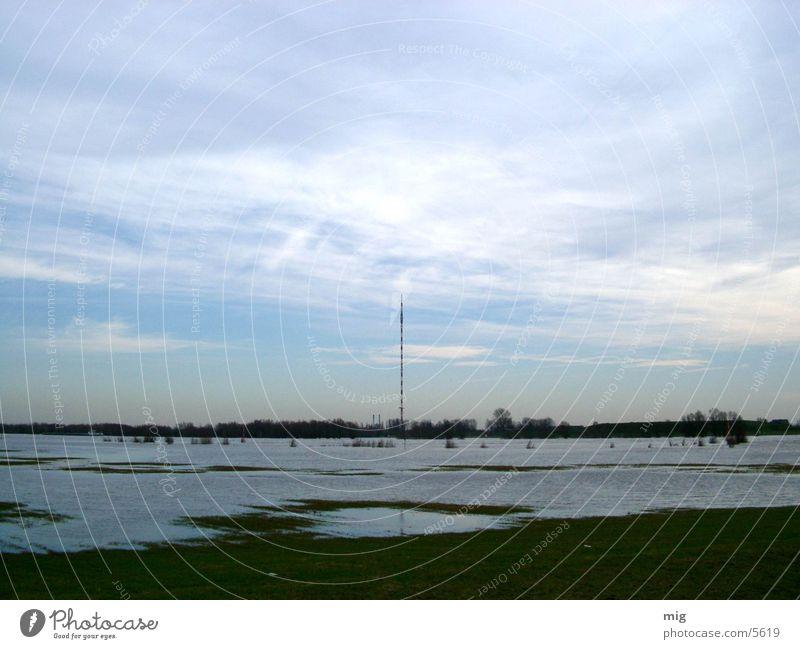 Nature Water Clouds Landscape Rhine