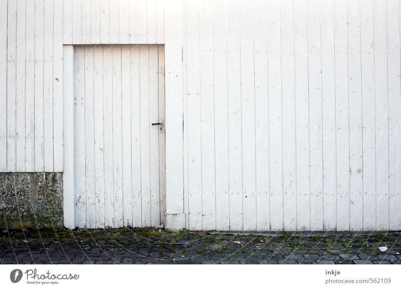 Old City White Loneliness House (Residential Structure) Cold Wall (building) Life Emotions Building Wall (barrier) Gray Wood Line Moody Facade