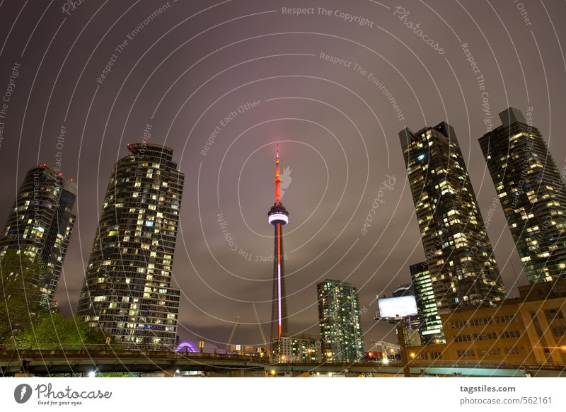 400 AND RISING Toronto CN Tower High-rise Town Canada Americas Night Twilight City life Landmark Television tower Vacation & Travel Travel photography