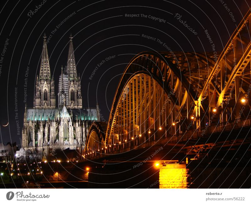 I'm going to hell. Cologne Night Light Dome Bridge