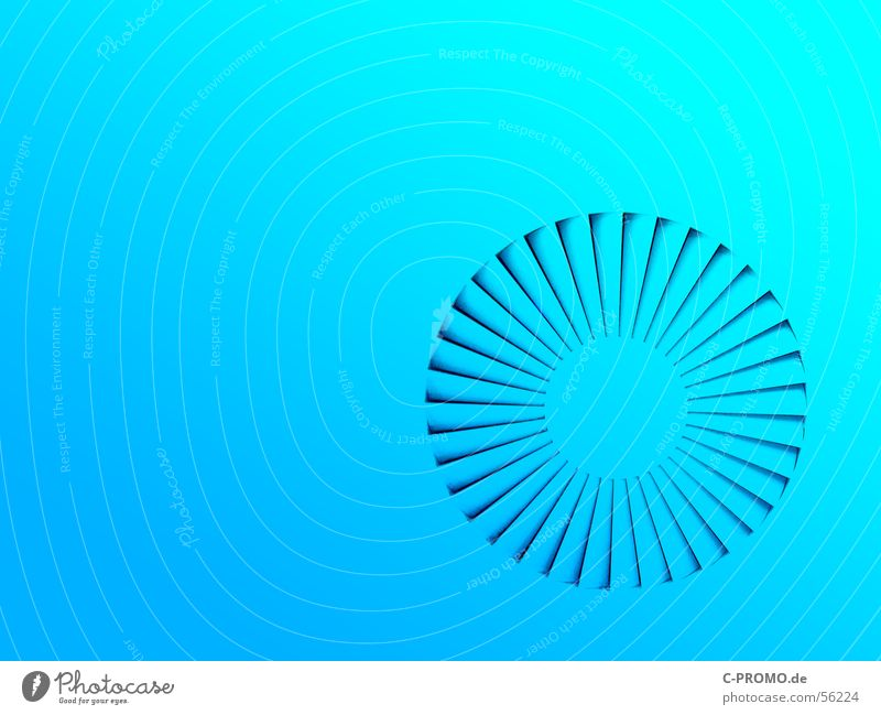 Blue Colour Round Turquoise Blanket Progress Abstract Ventilation Air conditioning