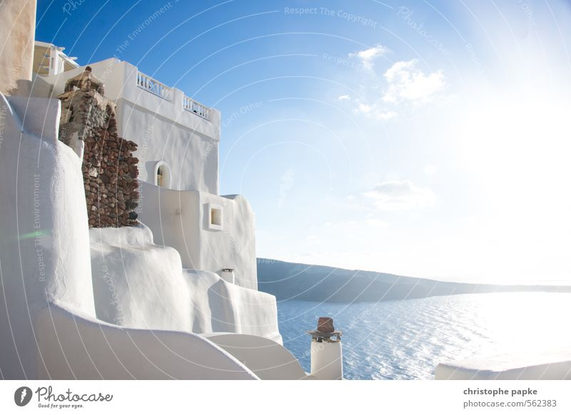 white friday Vacation & Travel Summer Summer vacation Sun Ocean Oia Cyclades Santorini Greece Fishing village Deserted Manmade structures Building