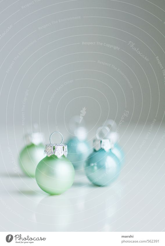 the balls are polished Leisure and hobbies Flat (apartment) Sign Turquoise Christmas & Advent Glitter Ball Glittering Small Shallow depth of field