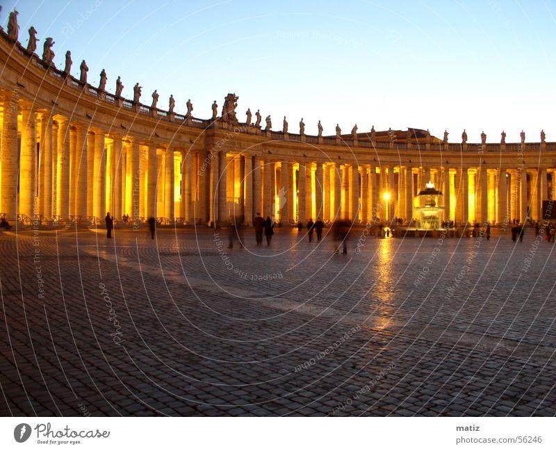 Rome St Peter's Square Evening Column lanzeit exposure