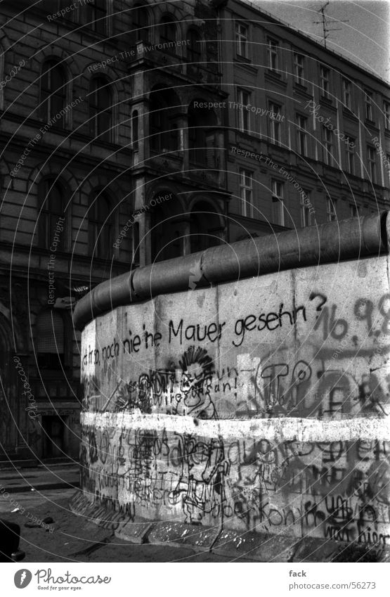 Wall (barrier) Narrow Berlin Kreuzberg Repression
