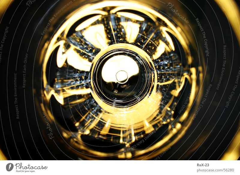 """Lens disc"" Light Round Brilliant White Things Yellow Glittering Mirror Macro (Extreme close-up) Close-up Kitchen Glass Transparent Bright Circle reflection"