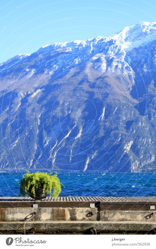 Nature Vacation & Travel Blue Green Water Landscape Winter Environment Mountain Brown Wind Beautiful weather Peak Alps Lakeside Snowcapped peak
