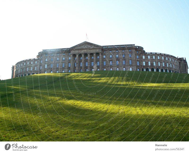 Sky Sun Green Meadow Park Large Vantage point To go for a walk Castle Hesse Kassel Hercules Bad Wilhelmshöhe
