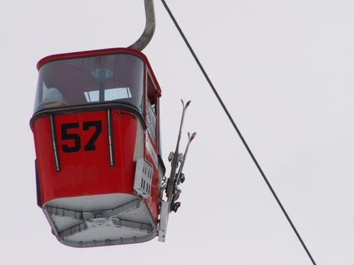 57 Skis Vacation & Travel Gondola Digits and numbers Wire cable Elevator Rope Sky Tall