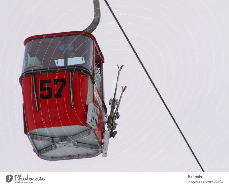 Sky Vacation & Travel Tall Rope Digits and numbers Skis Elevator Gondola Wire cable Cable car