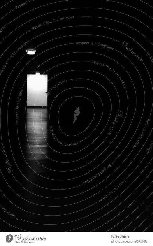 Dark Death Door Gloomy Hallway Isolated (Position) Corridor Eerie Passage Flare Shaft of light Bright spot Doorframe Pearly Gates
