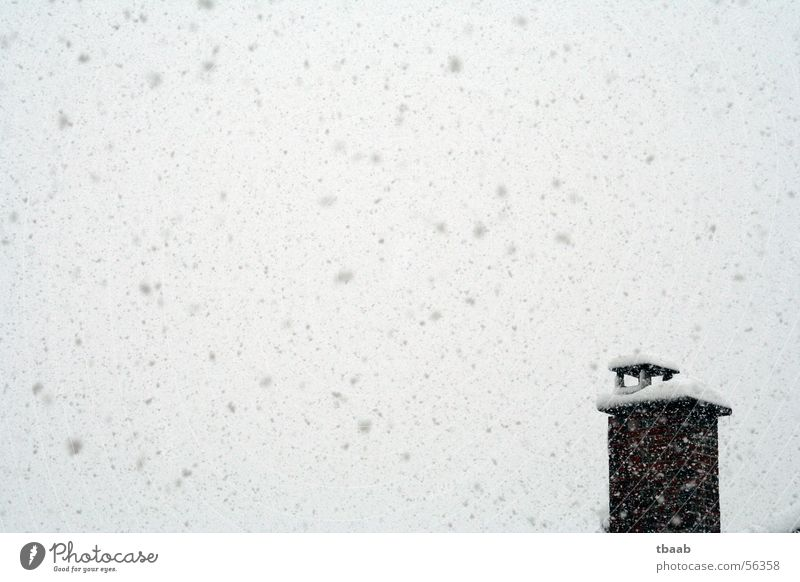 Snow, snow, snow Winter Cold Snowfall Chaos Chimney Sky 1 Deserted Exterior shot Covers (Construction) Snowflake Snowstorm Narrow Winter mood Hover