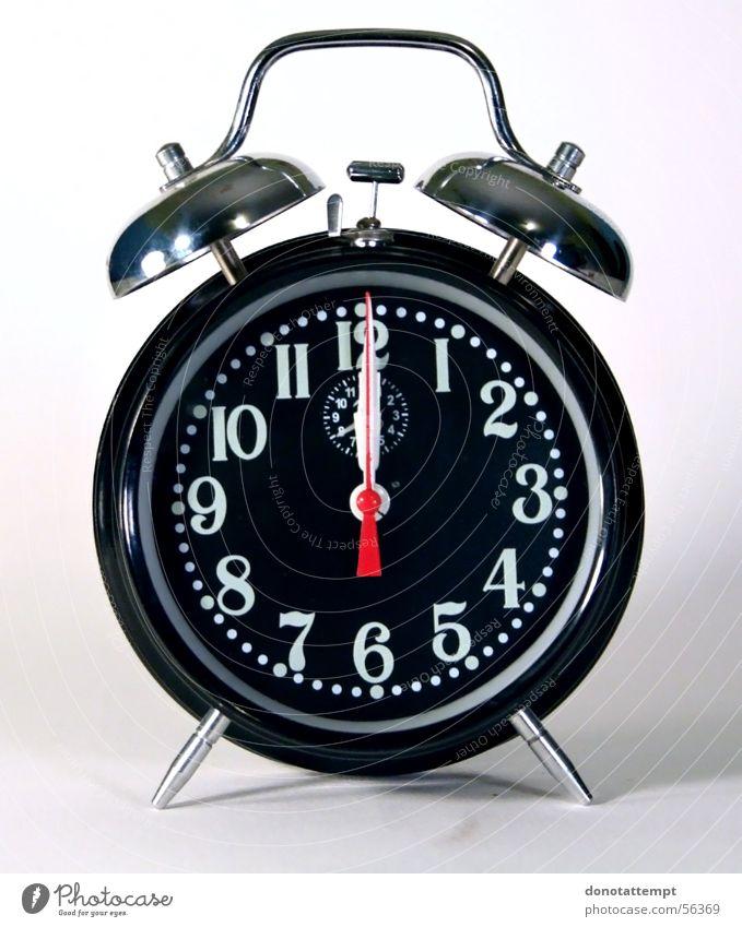 Black Clock Circle Remote Alarm clock Alarm Midnight Quirk