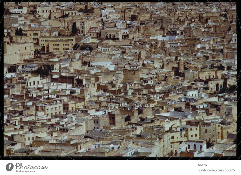 City House (Residential Structure) Old town Morocco Slum area Africa