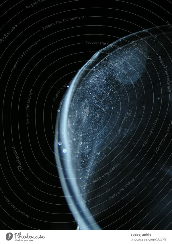 Dark Glass Dust Vessel Scratch mark