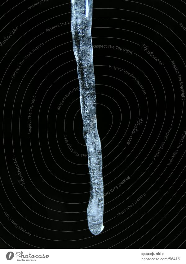 Water White Black Dark Ice Icicle