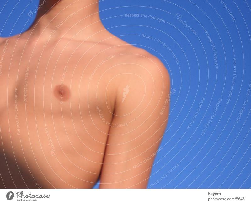 The breast Upper body Summer Man Chest Sky Sun
