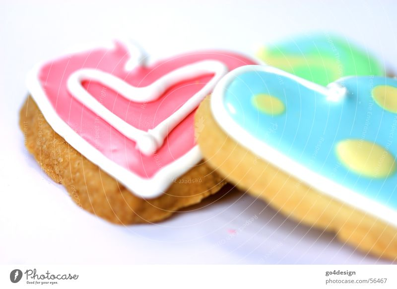 Green Red Yellow Feasts & Celebrations Nutrition Heart Cooking & Baking Sweet Letters (alphabet) Delicious Turquoise Baked goods Sugar Congratulations Cookie