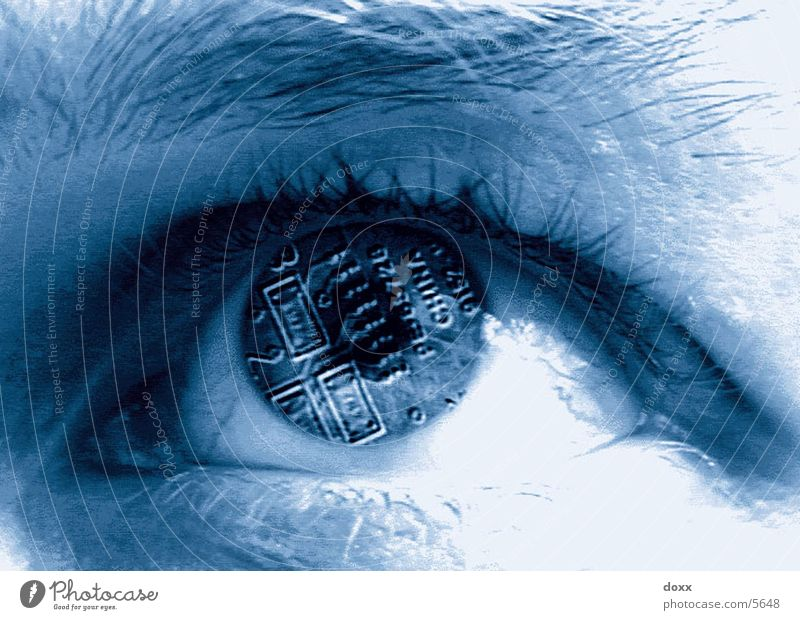 computereye Electronic Cyber Photographic technology Eyes Blue