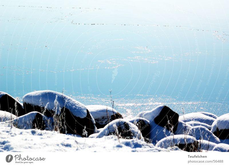 Ringkobing Fjord Ringkøbing Winter Ocean Vacation & Travel Coast Denmark Stone Rock Snow Sun Water