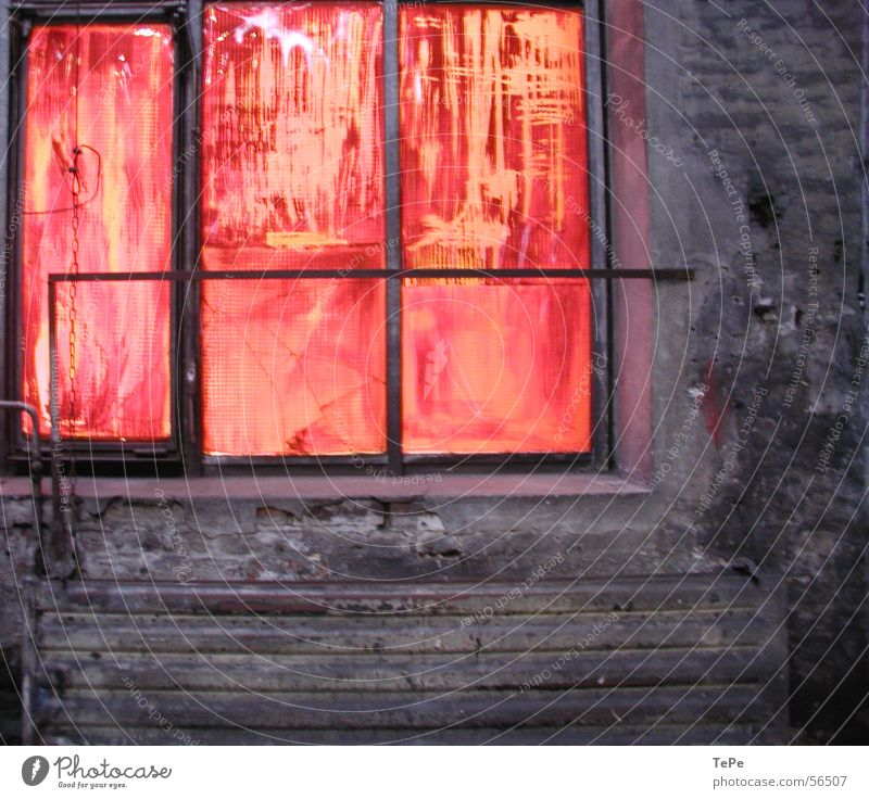 Old Red Loneliness Yellow Colour Window Stone Wall (barrier) Orange Glass Industrial Photography Cleaning Brick Warehouse Frame Dismantling