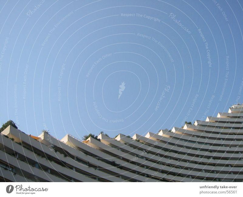 Sky Blue Coast Concrete High-rise Round Hotel Balcony Embarrassing