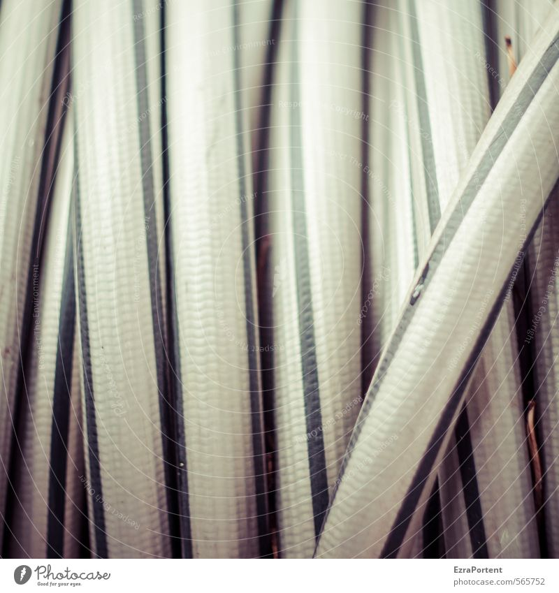 infinite loop Line Gray Black Hose Garden hose Gardening Rolled Coil coiled Structures and shapes Abstract Muddled Colour photo Subdued colour Exterior shot