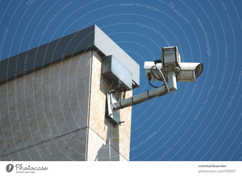 observation I Observe Surveillance Spy Safety Audience Neighbor Surveillance camera Looking Camera built Clarity Glass obsevierung big brother building clean
