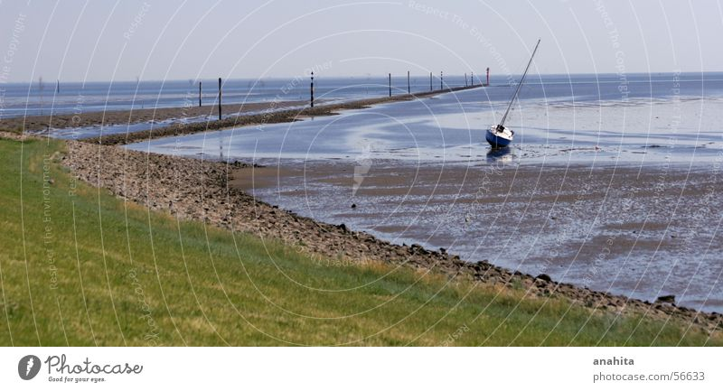 Water Ocean Watercraft Island Harbour North Sea Sailboat Yacht Mud flats Low tide Sport boats
