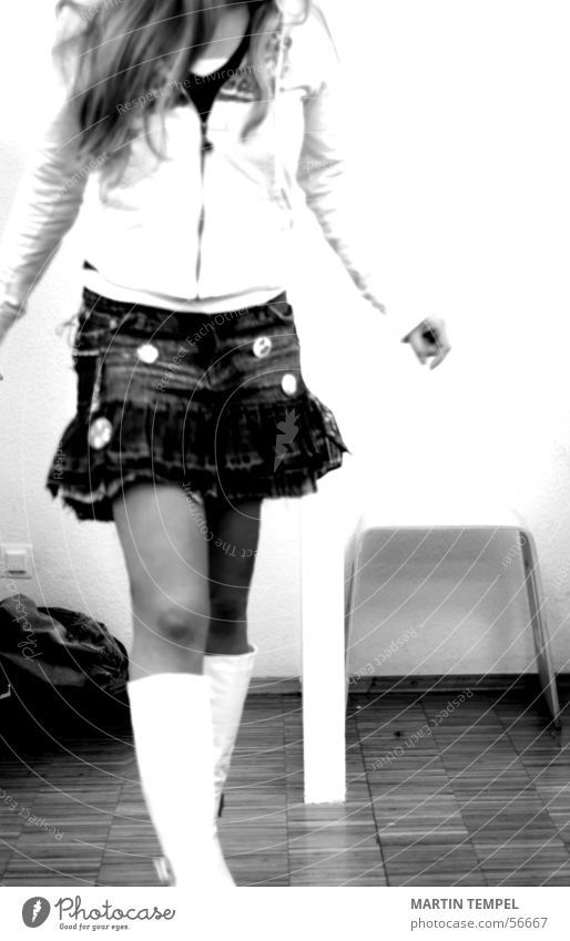 school girl Black & white photo Interior shot Lifestyle Feasts & Celebrations Feminine Young woman Youth (Young adults) 1 Human being 18 - 30 years Adults