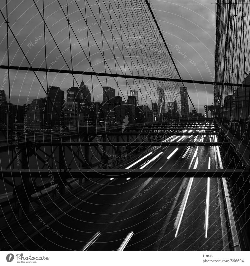 slow down. it's worth it. New York City Manhattan Brooklyn Bridge Transport Traffic infrastructure Passenger traffic Motoring Street Lanes & trails Highway