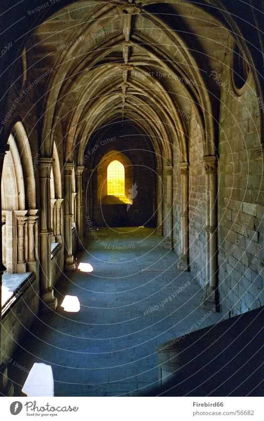 The light at the end of the.... Light Window Tunnel Cathedral Shadow Corridor