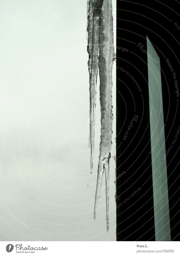 icicles Icicle Cold Balcony Winter Gray Window Doorframe Frozen Ice Living or residing Sky Frost Water Frame