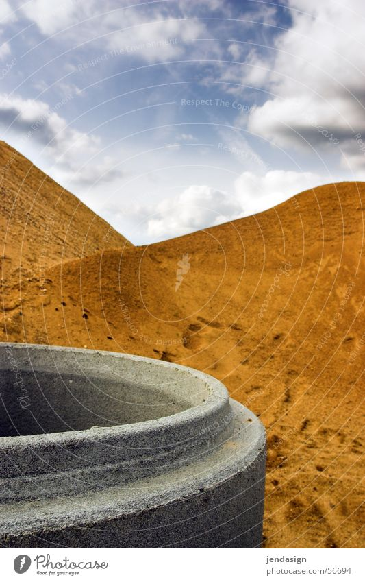 construction landscape Concrete Highway Gravel Work and employment Deserted Sand Sky Mountain