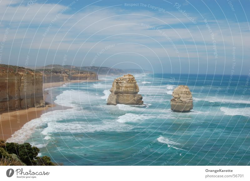 Sky Ocean Vacation & Travel Freedom Horizon Rock Australia Surf In transit Twelve Apostles
