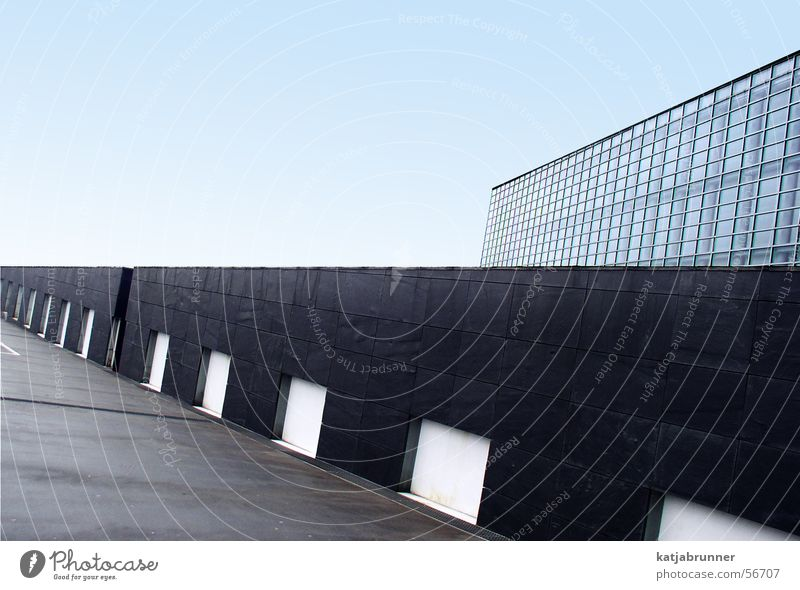 The other perspective European parliament Strasbourg Wall (barrier) Perspective Glass Line Sky Architecture