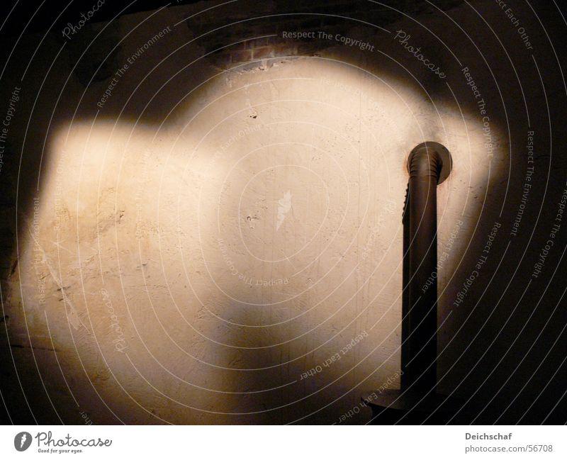 Play of light Chimney flue Light Dark Loneliness Cellar Room Shadow