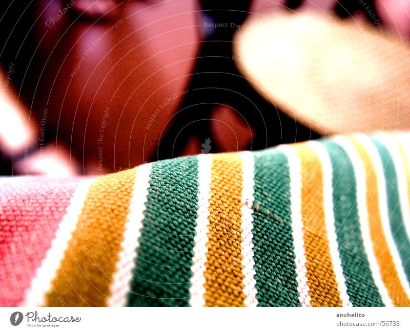 Ocean of Stripes Bag Fabric bag Clothing Accessory Background picture Red Yellow Green White Multicoloured Striped Macro (Extreme close-up) Calm Serene