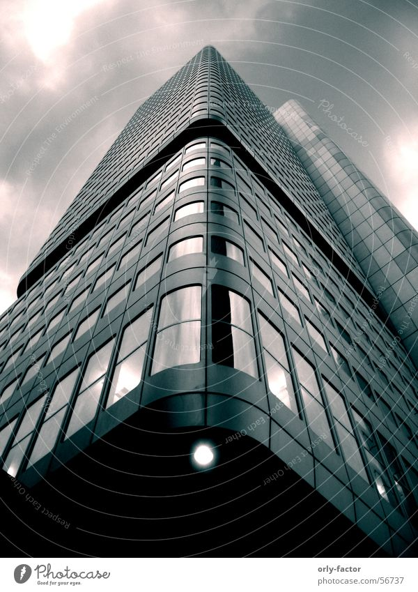 high risin High-rise Frankfurt Main Steel Hue Perspective Tall Glass Sky
